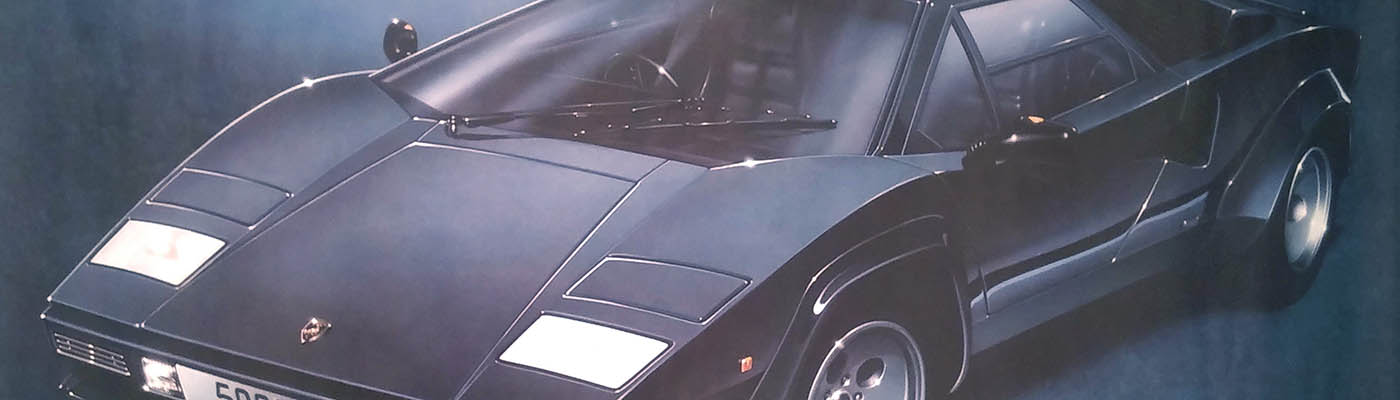 How I met Keith Harmer, the artist behind the amazing 80s Lamborghini Countach poster